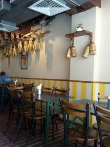 Inside Carnatic Cafe.