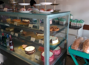 The display counter on the ground floor at Elma's.