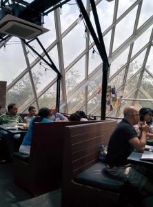 Inside Monkey Bar: lots of natural light.