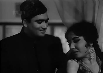 Meena Kumari and Sunil Dutt in Ghazal
