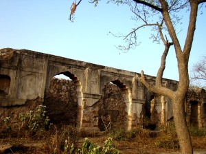 The ruins of a late Mughal haveli, in Sultangarhi.