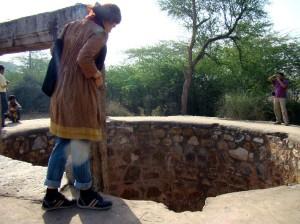 A Tughlaq-era well at Sultangarhi.
