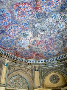 The ceiling of the tomb of Jamaali-Kamaali.