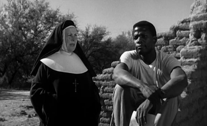Sidney Poitier and Lilia Skala in Lilies of the Field