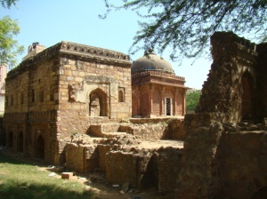A view of the tomb complex.