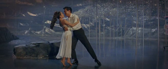 A frame from the dream sequence following 'Love, Look Away'