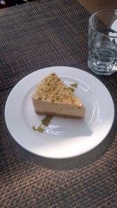 The bhapa doi cheesecake at Cafe Lota.