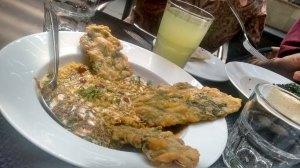 Paalak patta chaat, at Cafe Lota.