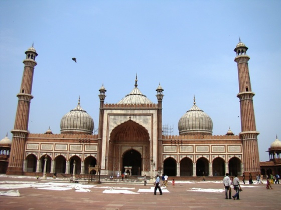 A view of the Jama Masjid today.