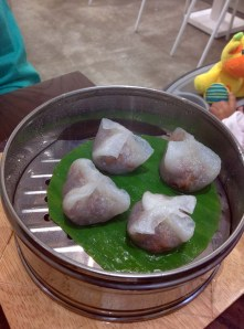Crystal duck dumplings.