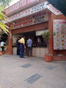 The Maharashtra Food Stall at Dilli Haat.