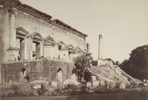 The Bank of Delhi (Lloyd's Bank Building) photographed by Major Robert and Harriet Tytler in 1857. (photo from Wikipedia)