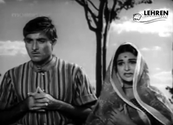 Raj Kumar and Kamini Kaushal as Hori and Dhaniya