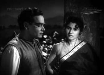 Malti and Mehta, in a rare scene from the film