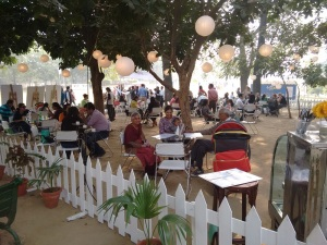 A pretty yard at the Palate Fest.