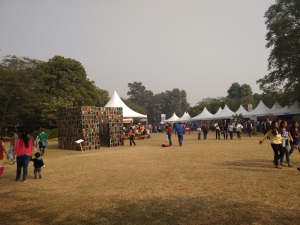 The Palate Fest - tents and some installation art.