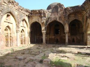 At Begumpuri Masjid, looking towards the zenana masjid.