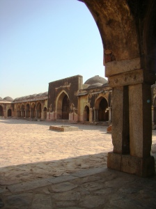 A view of the sehan at Begumpuri Masjid.