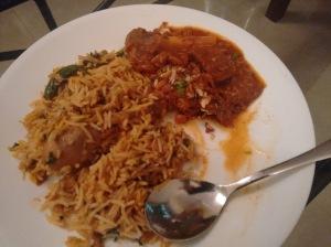 Chicken biryani and mutton korma, by Sangeeta Anand.