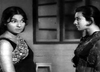 Tanuja as Asha and Seema/Asha in Gustakhi Maaf