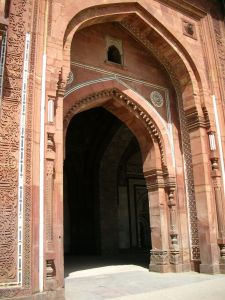 The iwaan - the main arch - at Qila-e-Kohna.