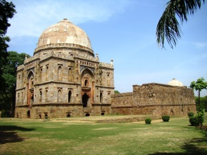 Bada Gumbad, seen from a distance.