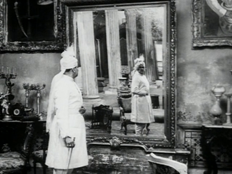 The grand mirror in the jalsaghar, in better days...