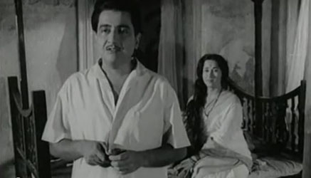 Bharat Bhushan and Shalini Madolkar in Taqdeer