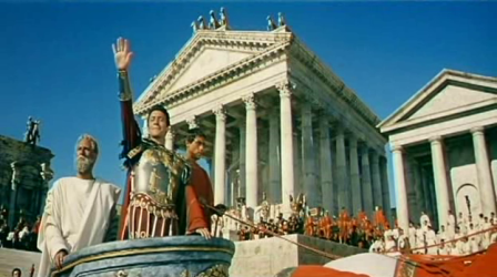 Christopher Plummer as Commodus in The Fall of the Roman Empire