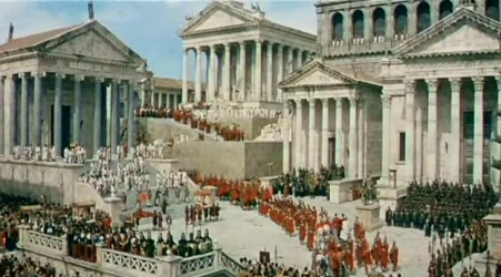 A grand parade in Rome