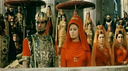 Omar Sharif and Sophia Loren as Sohamus and Lucilla