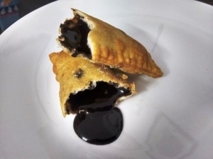 The 5 Star dark chocolate hand pie.