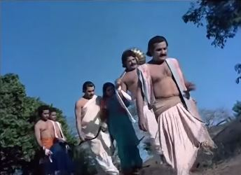 The Pandavas go off into exile