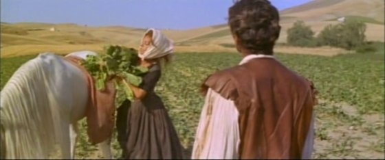 Isabella piles vegetables onto Rodrigo's horse