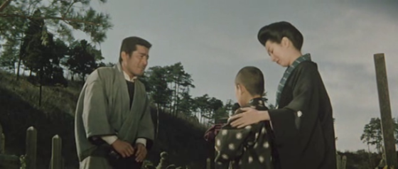 After the funeral, Mrs Yoshioko approaches Matsu