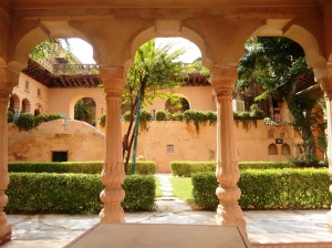 A little lawn and courtyard in Neemrana.