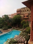 Neemrana: A view of one of the swimming pools.