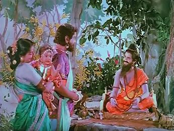 A sadhu names the baby