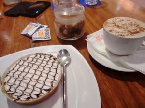 Banoffee pie and cafe miel. Great pie, bad coffee.