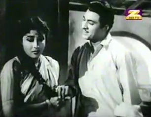 Talat Mahmood and Mala Sinha in Ek Gaon ki Kahaani