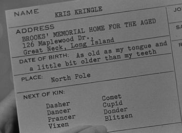 Kris Kringle's employee card