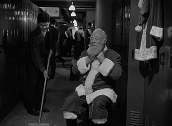 Kris Kringle and Alfred have a chat