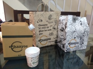 Boxes, tea kettles and more, from Chaayos.