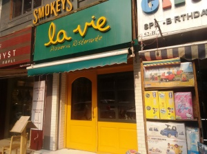 The entrance to La Vie, in Khan Market's Middle Lane.