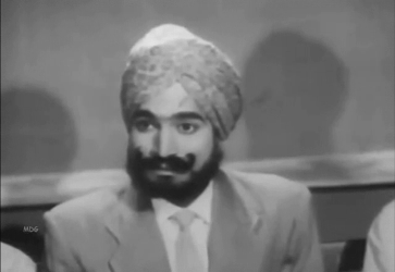 The mysterious Sikh in the courtroom