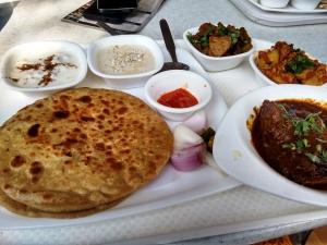 The non-vegetarian thali at the Bihar stall.