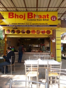 The Bihar food stall at Dilli Haat.