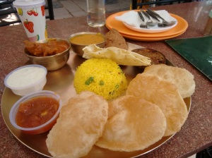 The combo thali at Bijoli Grill: good stuff!