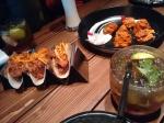 On the table: the lamb tacos, the tandoori soy chops, and the Italian smooch.