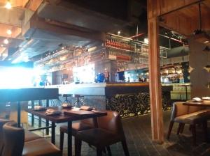 Inside Farzi Cafe.